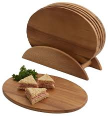 7 oval board set modern serving dishes and platters by
