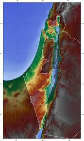 Blank Map Of Israel And Palestine by Palestine Topographic Blank Map U2022 Mapsof Net