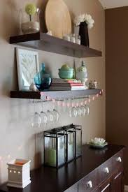 Dining Room Storage With Floating Shelves Dining Room Storage - Floating shelves in dining room