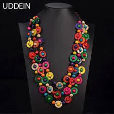 ethnic necklace images Uddein bohemia ethnic necklace amp pendant multi layer beads jpg