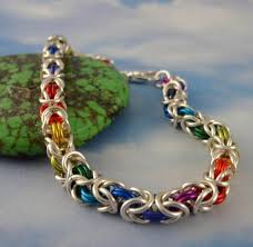 kit bracelet rainbow images Silver rainbow byzantine bracelet kit custom chainmaille 10 jpg