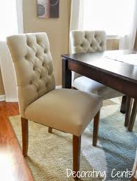 Upholstered Linen Dining Chairs Velvet Tufted Dining Chairs