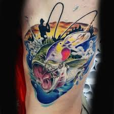 75 bass tattoo designs for men sea fairing ink ideas