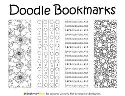 free printable doodle bookmarks download the pdf template at http