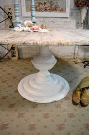 shabby chic round table painted cottage chic shabby french linen round dining table tbl31