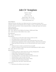 Sample Resume For Jobs by Cv Template Job Http Webdesign14 Com