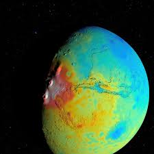 Planet Map New Mars Gravity Map