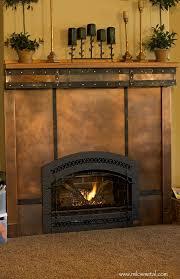fireplace copper milo u0027s art metal