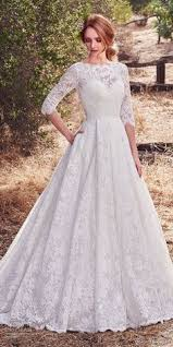 wolf of wall wedding dress princess lace wedding dress with half length sleeves