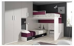 chambre ado lit superposé meubles ros