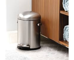 ideas small trash cans wastebasket with lid bathroom garbage