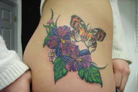 55 butterfly flower tattoos