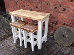 Breakfast Bar Table And Stools Breakfast Bar Table With 2 Matching Stools Miller Country Woodcraft