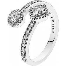 pandora verlobungsring pandora ring 191031cz abstrakte eleganz silber 925 klare cubic