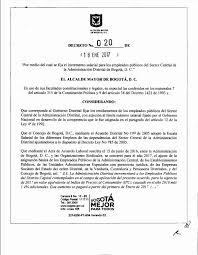 cual fue el aumento en colombia para los pensionados en el 2016 decreto 020 de 2017 incremento salarial empleados públicos