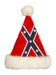 confederate rebel flag santa hat