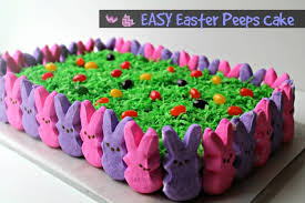 Decorating With Peeps For Easter easy easter peeps cake foody schmoody blog foody schmoody blog