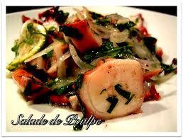 poulpe cuisine salade de poulpe recettes nc cuisine calédonienne