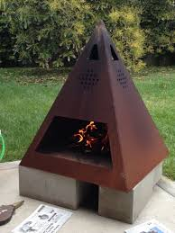 Cooking On A Chiminea Custom Made Outdoor Steel Chiminea Fireplace Things I Love