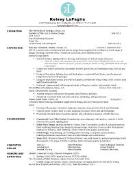 interior design experience resume
