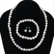 pearl necklace earring images 925 silver cultured freshwater pearl necklace bracelet earring jpeg