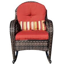 Wicker Outdoor Rocking Chairs Wicker Rocking Chair Rattan Outdoor Patio Yard Furniture All