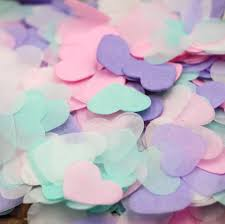 Baby Shower Pastel - 10g bag 1 inch pastel heart confetti wedding confetti bridal