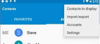 get contacts from android managing contacts on android