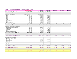 monthly household budget template u2013 empeve spreadsheet templates