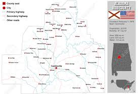 Alabama Counties Map Large And Detailed Map And Information About Bibb County In