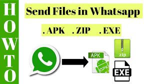 watsapp apk file how to send apk exe zip files in whatsapp file transfer