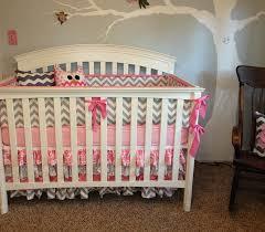 Kinsley Chevron Bedroom Set Gray Pink U0026 Grey Chevron Nursery Project Nursery