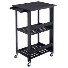 Black Microwave Cart Amazon Com Giantex Foldable Wood Kitchen Cart Utility Serving