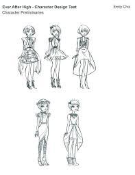 poppy o u0027hair character design test sheets monster high dolls com