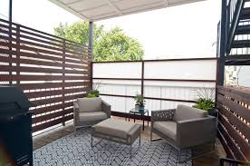Outdoor Balcony Rugs Deck Privacy Screen Ideas Patio Traditional With Bench Concrete