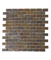 Rusty Brown Slate Mosaic Backsplash by Brown Rust Brick Slate Mosaic Tile For Backsplash U0026 Walls