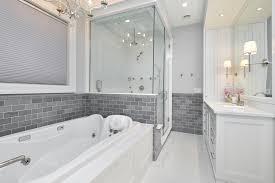 modern bathroom flooring modern bathroom with gray walls and mosaic tile floors 4022