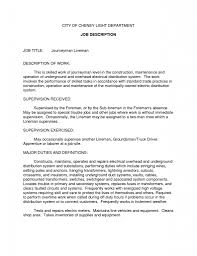 Electrician Resume Example by 100 Electrician Resume Template Free Walmart Resume