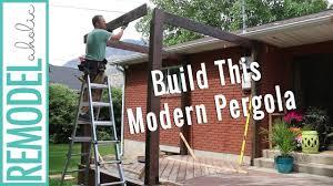 Buy A Pergola by How To Build A Pergola On A Deck Diy Modern Pergola Tutorial