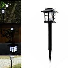 solar outdoor house lights 4 pcs waterproof cottage style led solar garden light outdoor