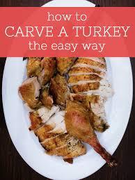 how to carve a turkey noshon it