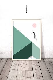 minimalist poster modern art dorm room decor college