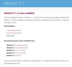 getting started with motiopi