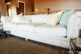 Linen Chesterfield Sofa by The Concrete Cottage Meet My Linen Chesterfield