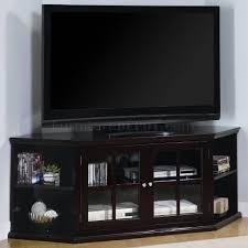 entertainment centers with glass doors espresso finish modern corner tv stand w 2 glass doors u0026 shelves