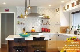 cuisine mur poli blanc en céramique carreaux de mosaïque dosseret de cuisine