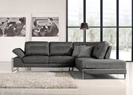 Gray Fabric Sectional Sofa 1372 Sectional Sofa In Gray Fabric By At Home Usa