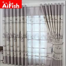 Retro Curtains Aliexpress Buy Classic Ink Scenic Semi Blackout