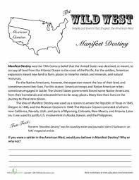 the wild west manifest destiny destiny homework and worksheets