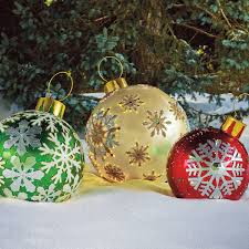 Large Illuminated Christmas Decorations by Big Christmas Ornaments Outdoor U2013 Large Outdoor Lighted Christmas
